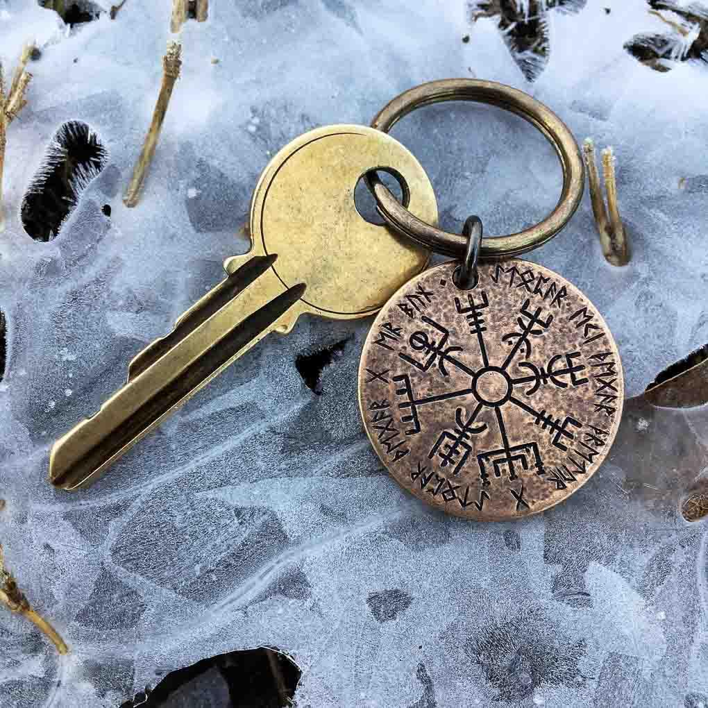 Porte-clef De Protection Viking En Bronze