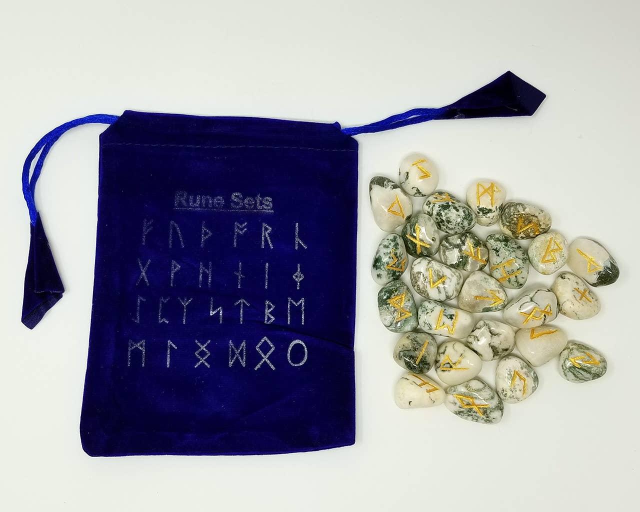 25 Runes En Runes En Agate Arbre