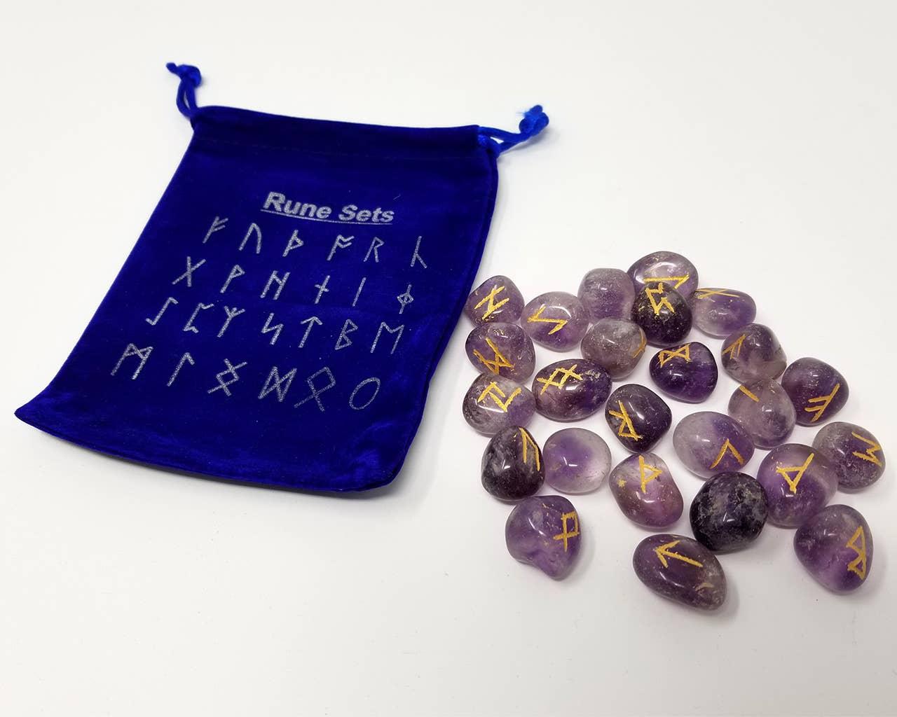 25 Runes En Runes En Améthyste