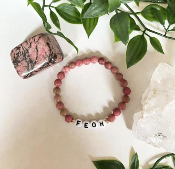 Bracelet-feoh-rhodonite-rose